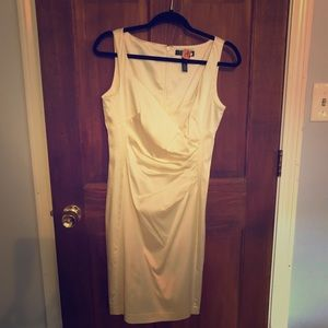 Ralph Lauren White Satin Dress